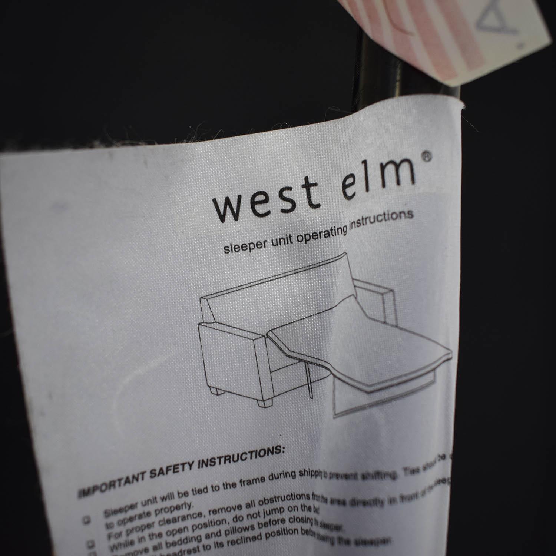 West Elm Cameron Roll Arm Upholstered Sleeper Sofa West Elm