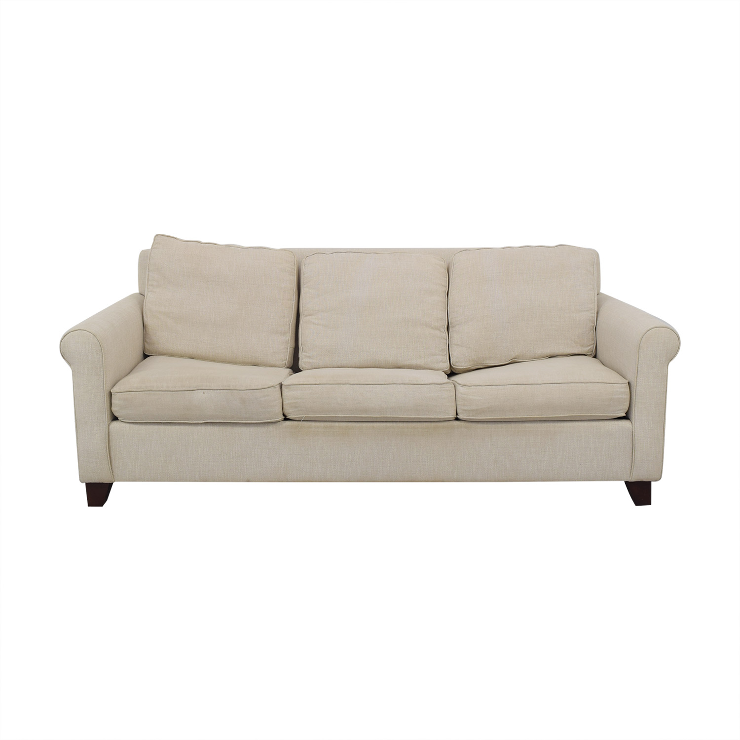 West Elm West Elm Cameron Roll Arm Upholstered Sleeper Sofa pa