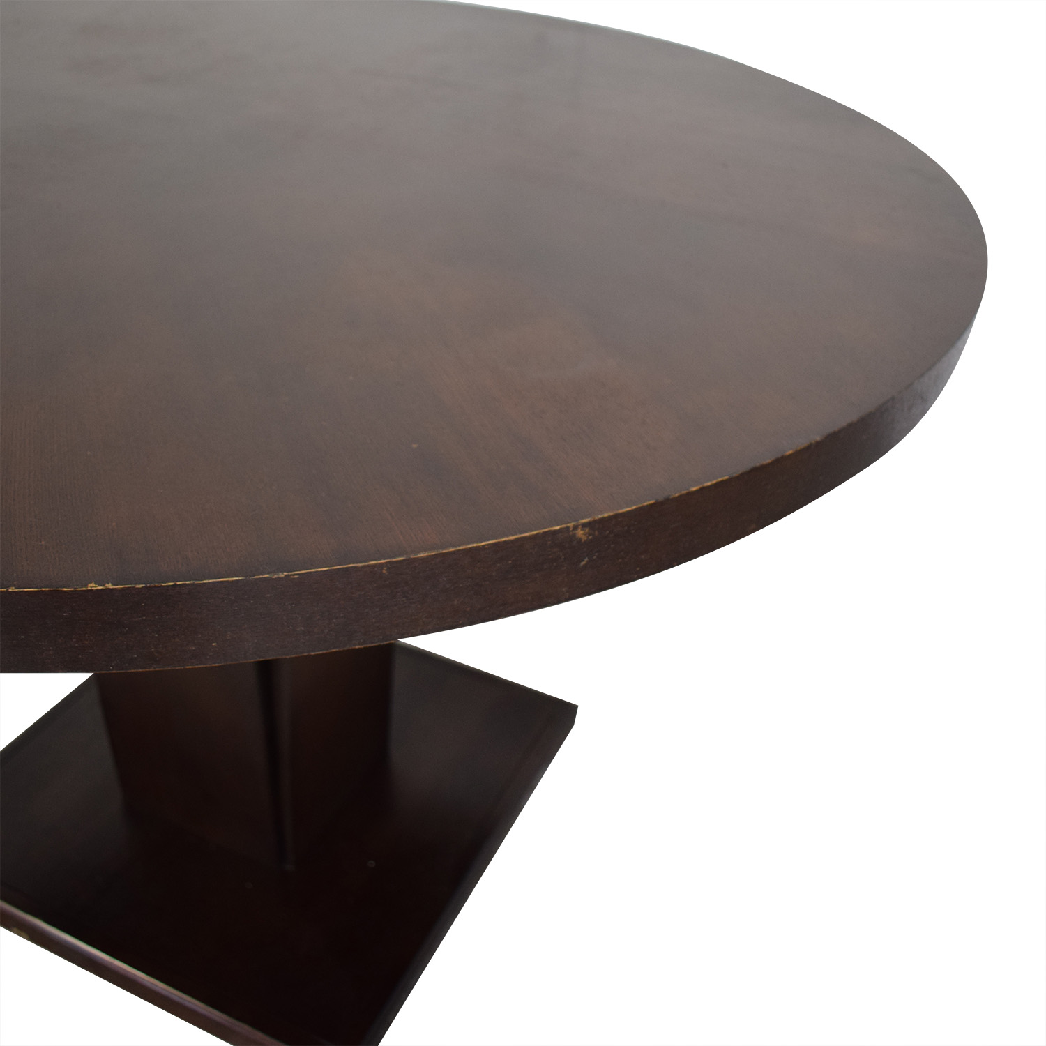 shop Crate & Barrel Espresso Round Dining Table Crate & Barrel Dinner Tables