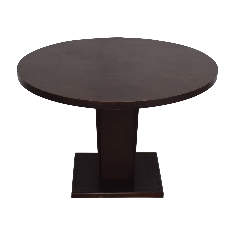 buy Crate & Barrel Crate & Barrel Espresso Round Dining Table online