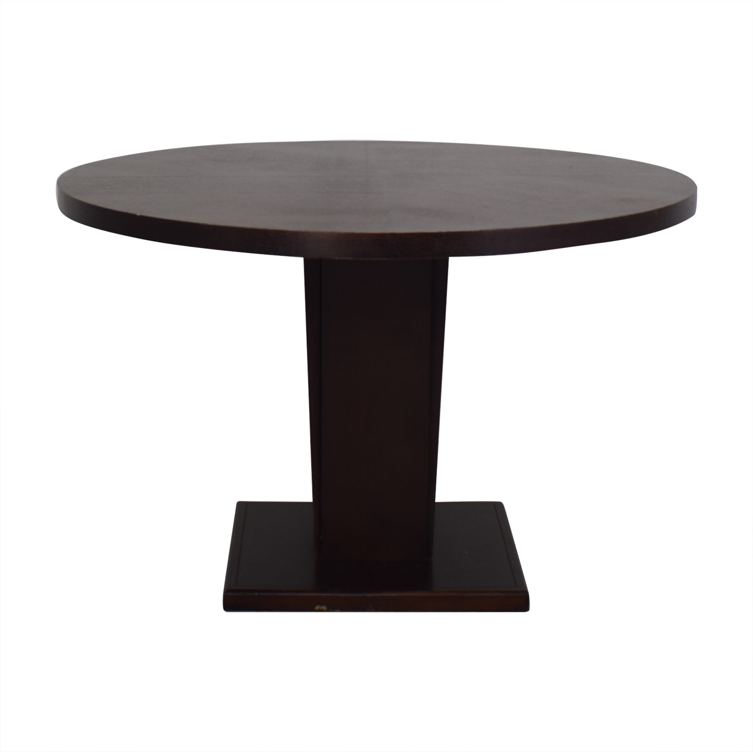 shop Crate & Barrel Espresso Round Dining Table Crate & Barrel