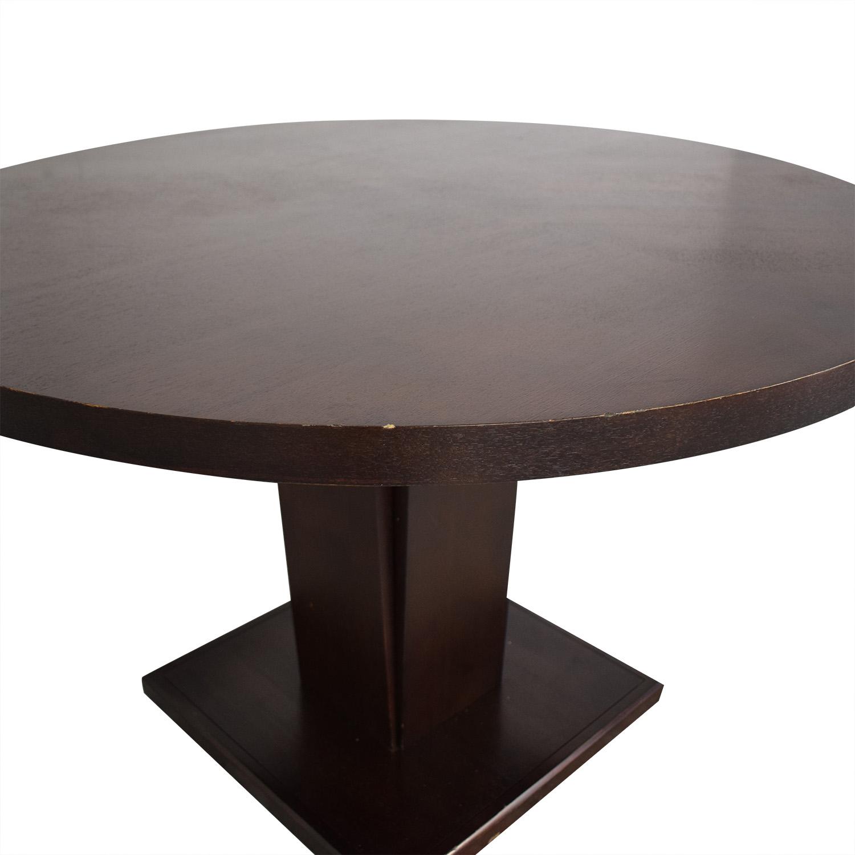 shop Crate & Barrel Espresso Round Dining Table Crate & Barrel Tables