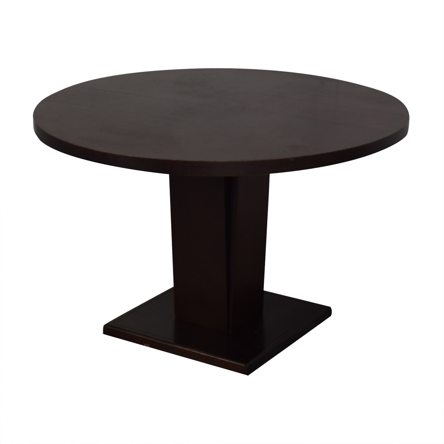 Crate & Barrel Espresso Round Dining Table / Dinner Tables