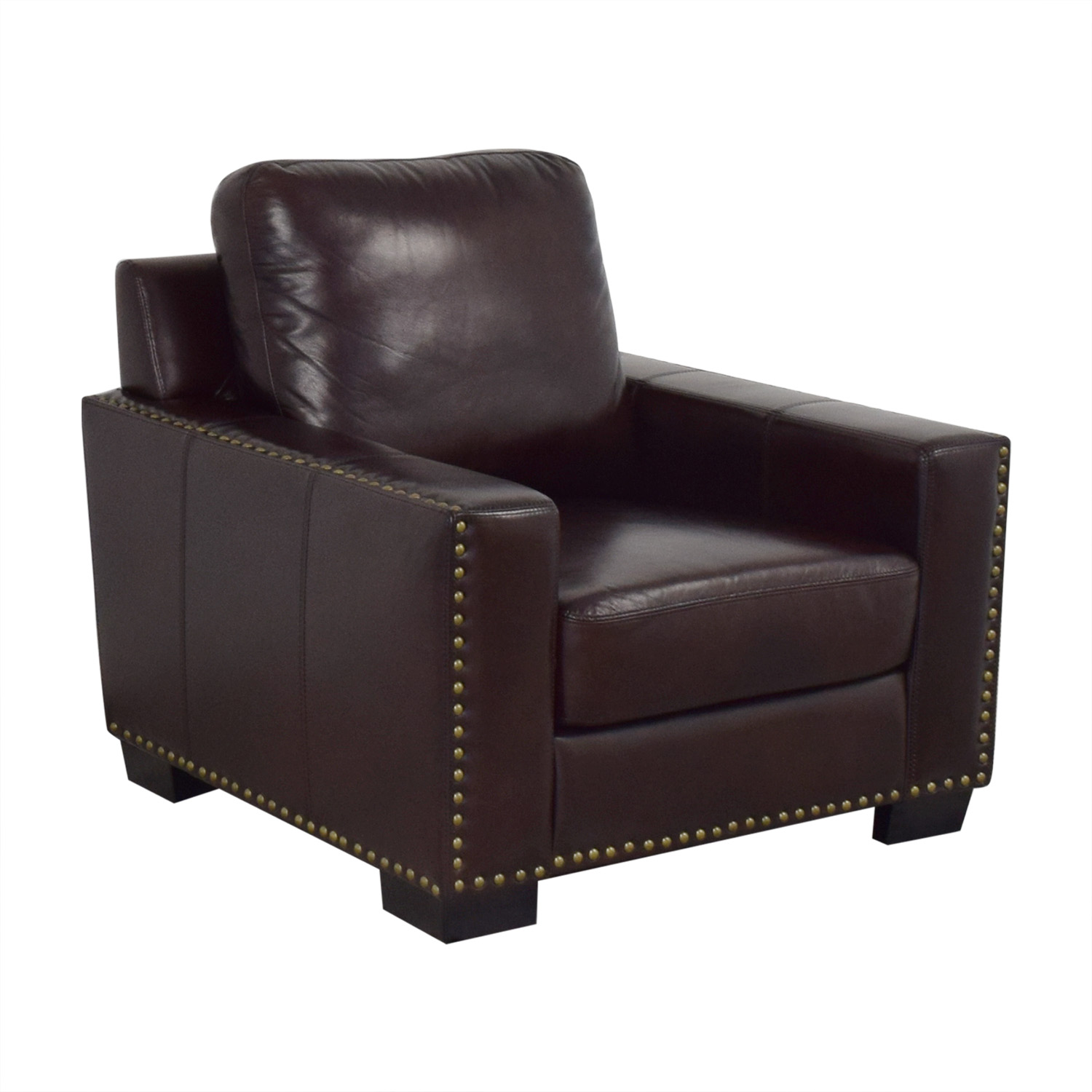 Miraculous 82 Off Abbyson Abbyson Monaco Leather Chair Chairs Ibusinesslaw Wood Chair Design Ideas Ibusinesslaworg