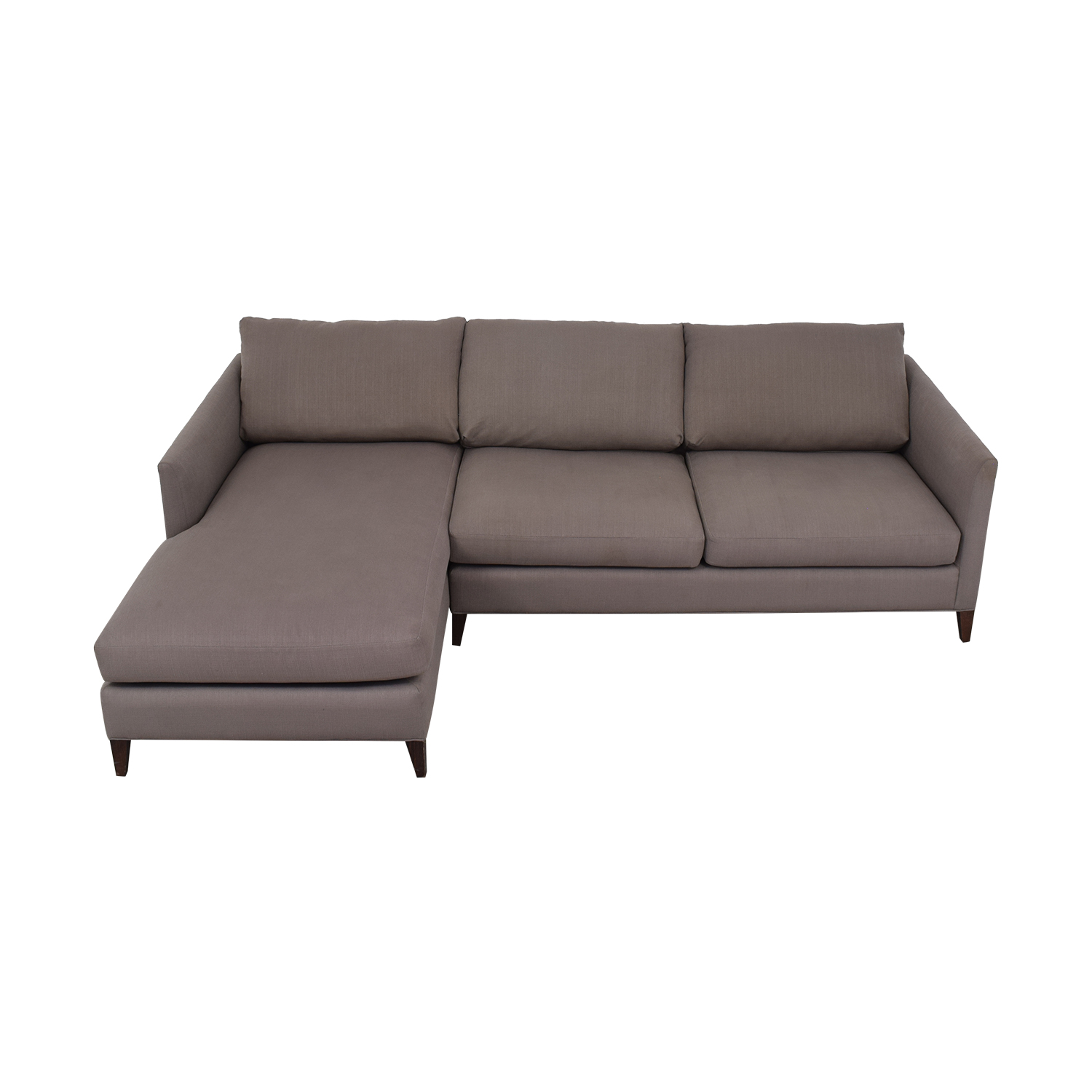 Crate & Barrel Crate & Barrel Lounge Sofa with Chaise nyc