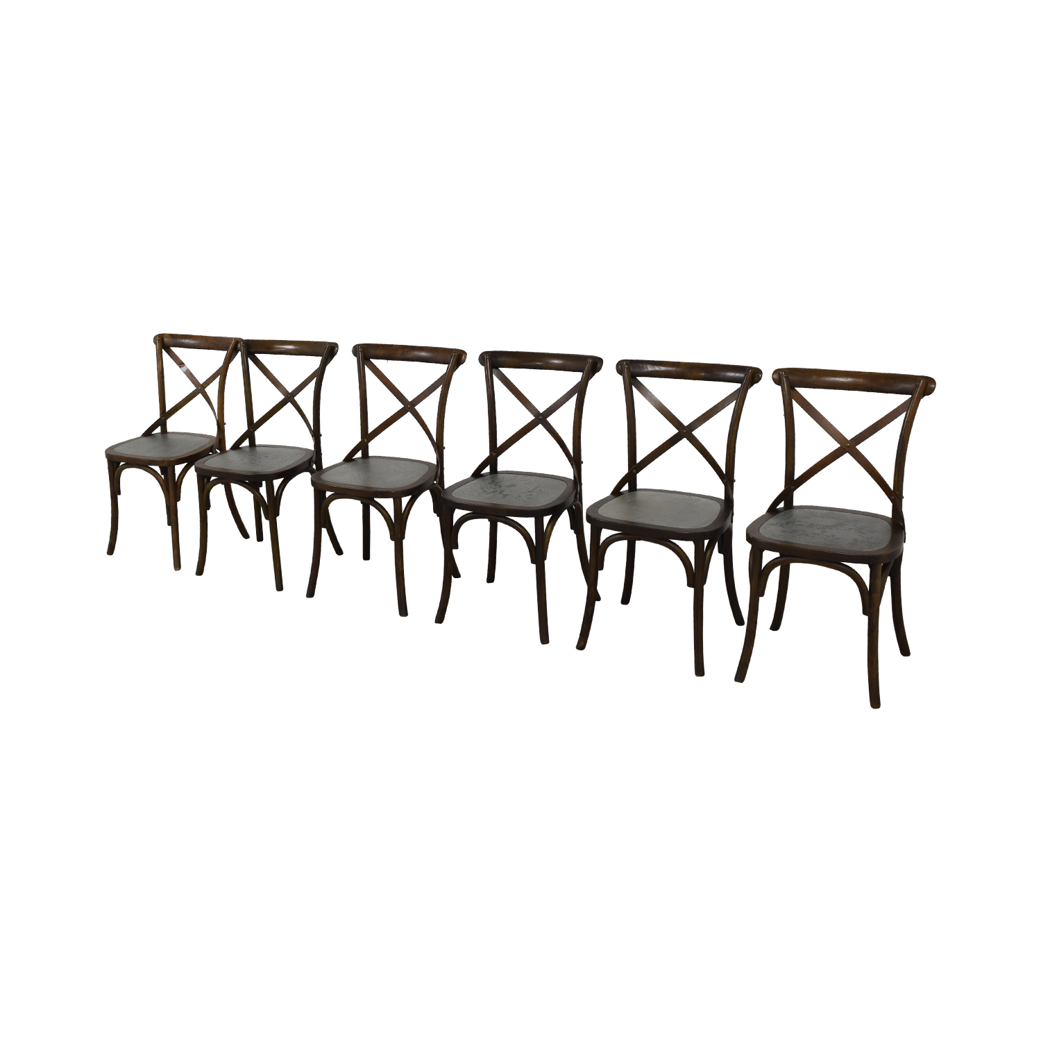 Sitcom Furniture Sitcom Furniture Wood and Metal Dining Chairs used