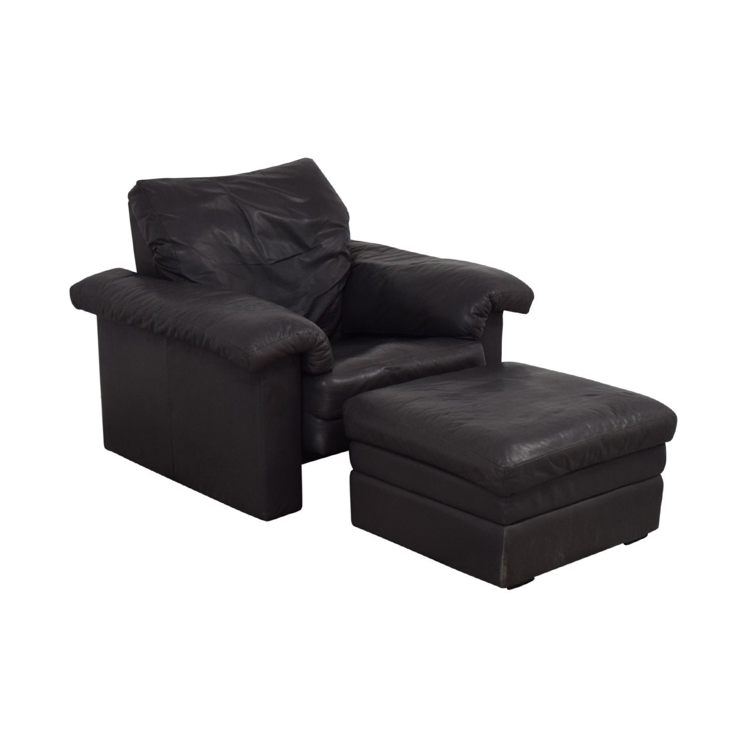 Rolf Benz Armchair and Ottoman Set / Chairs