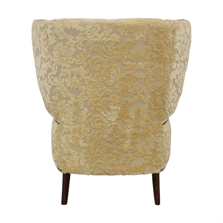 Antique Wingback Armchair beige