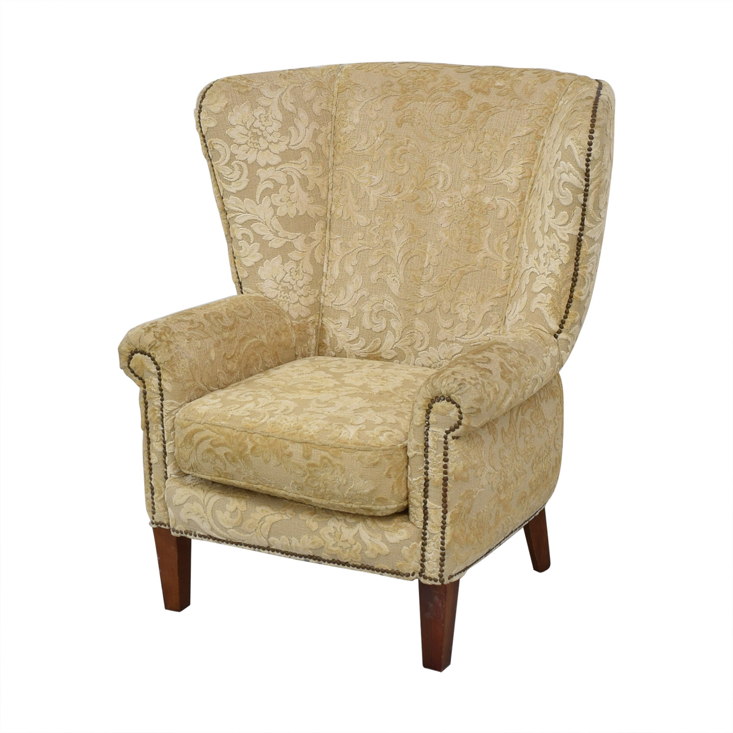 Antique Wingback Armchair discount