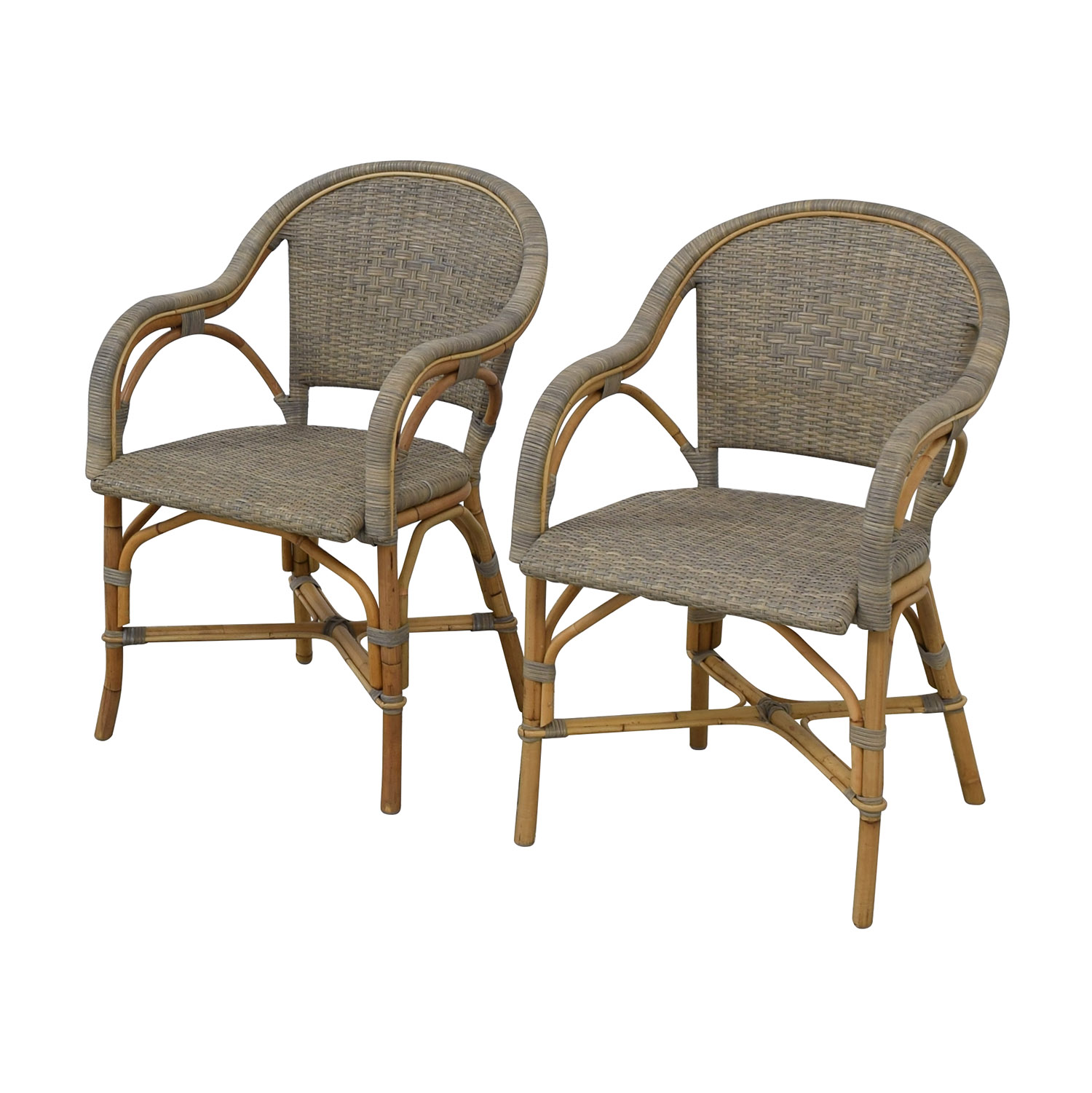 buy Serena & Lily Sunwashed Riviera Armchairs Serena & Lily Chairs