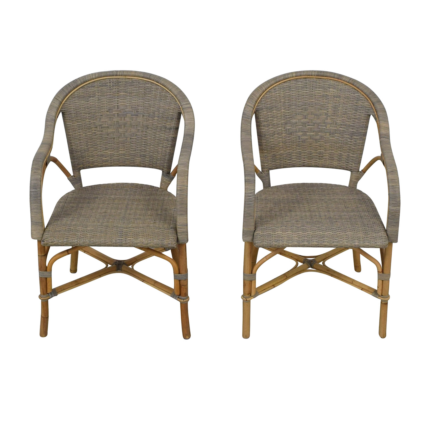 buy Serena & Lily Sunwashed Riviera Armchairs Serena & Lily Dining Chairs