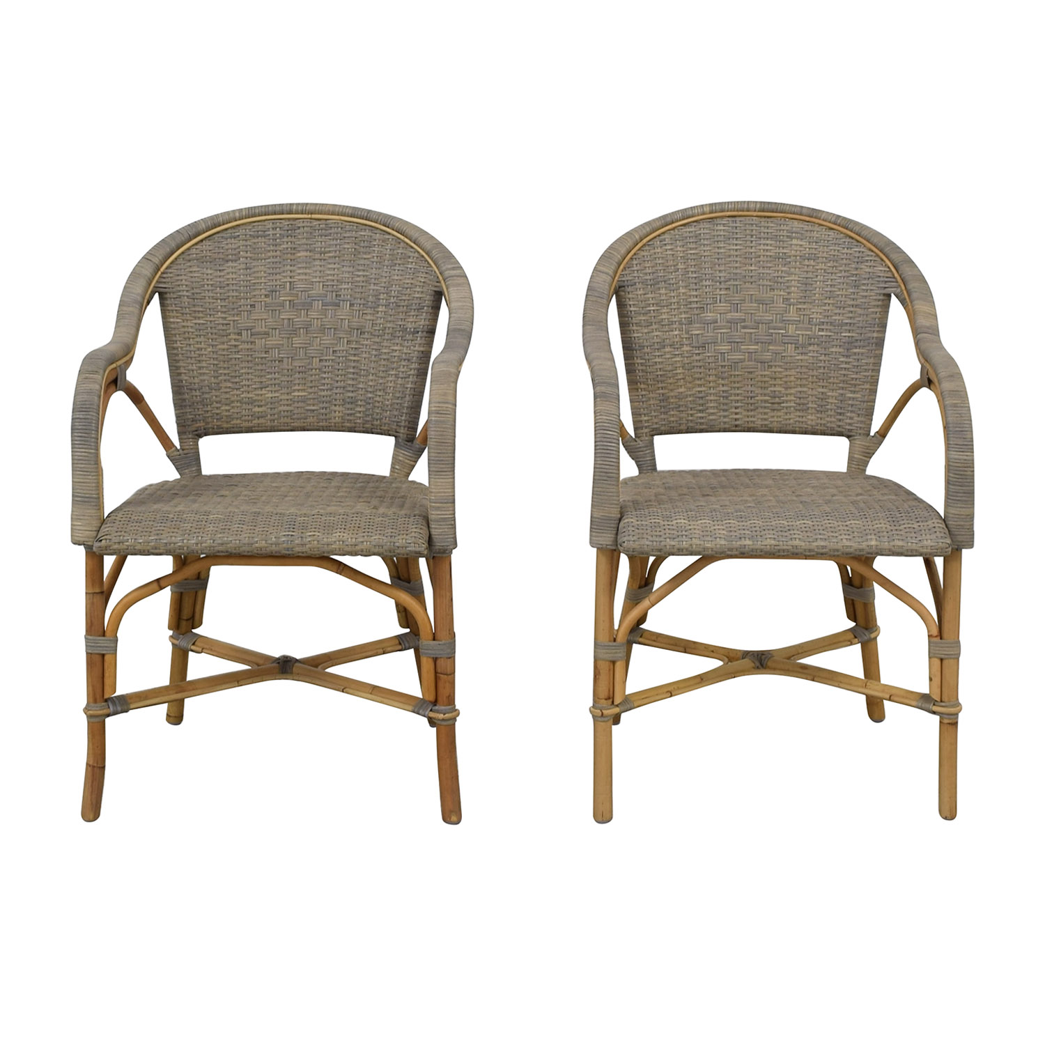 Serena & Lily Sunwashed Riviera Armchairs Serena & Lily