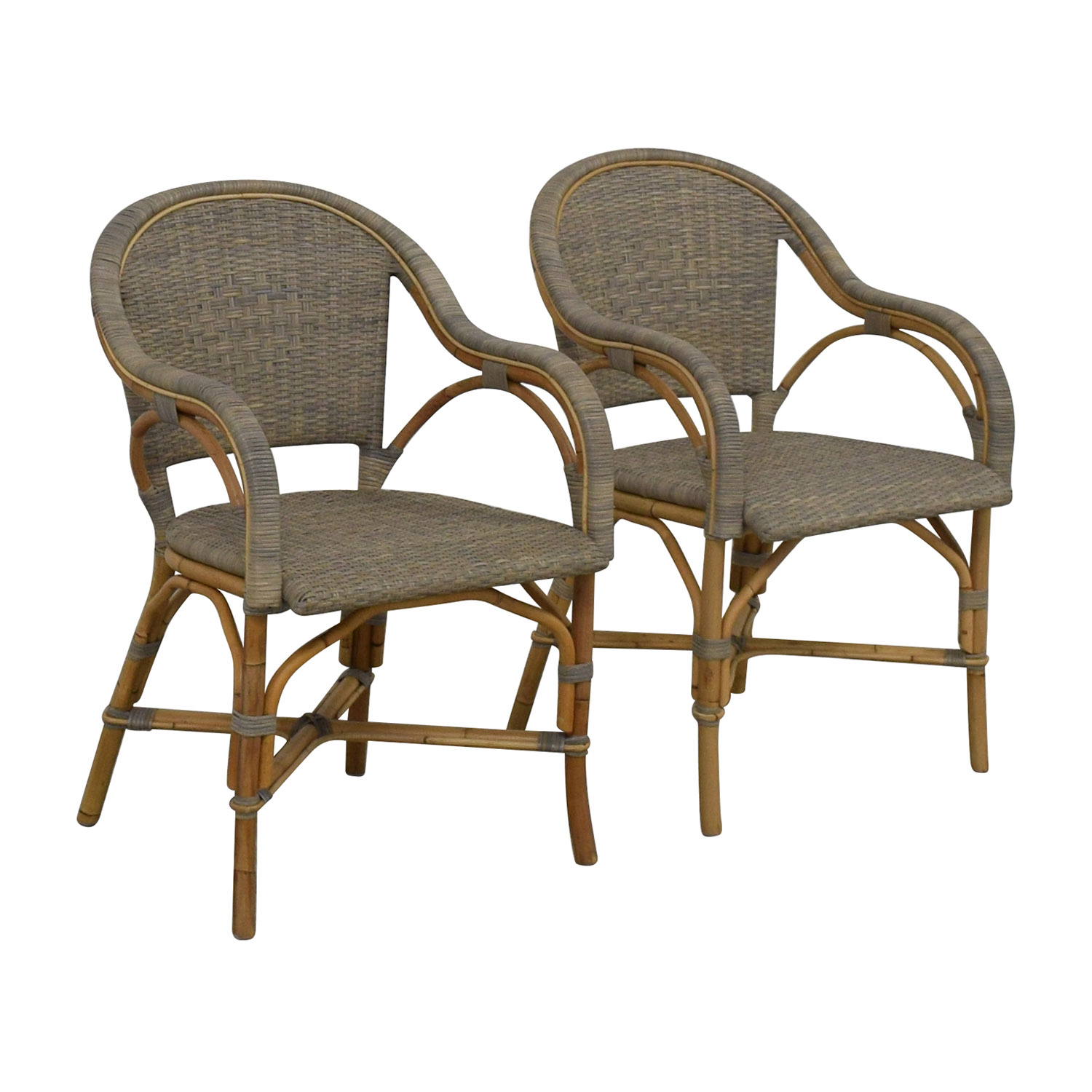 Serena & Lily Serena & Lily Sunwashed Riviera Armchairs Chairs