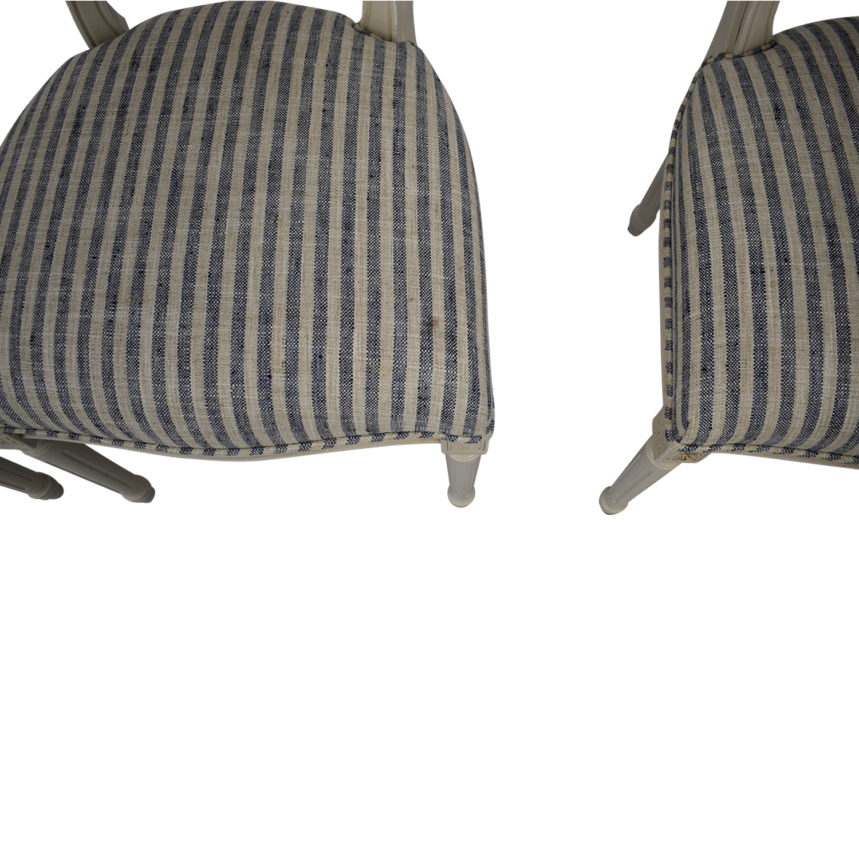 shop Ballard Designs Oval Back Louis XVI Side Chair Ballard Designs Dining Chairs