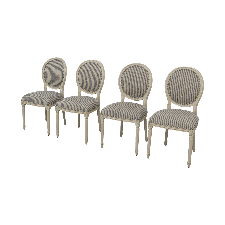 Ballard Designs Oval Back Louis XVI Side Chair / Dining Chairs