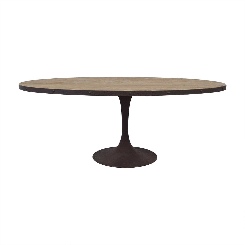 shop LexMod Drive Oval Dining Table LexMod Tables