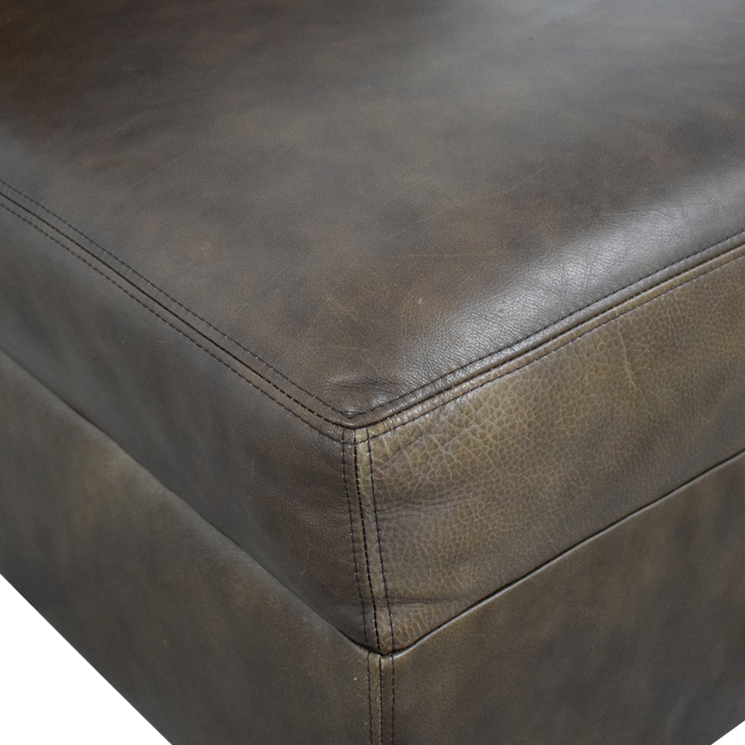 Pottery Barn Pottery Barn Leather Lounge Chair on sale