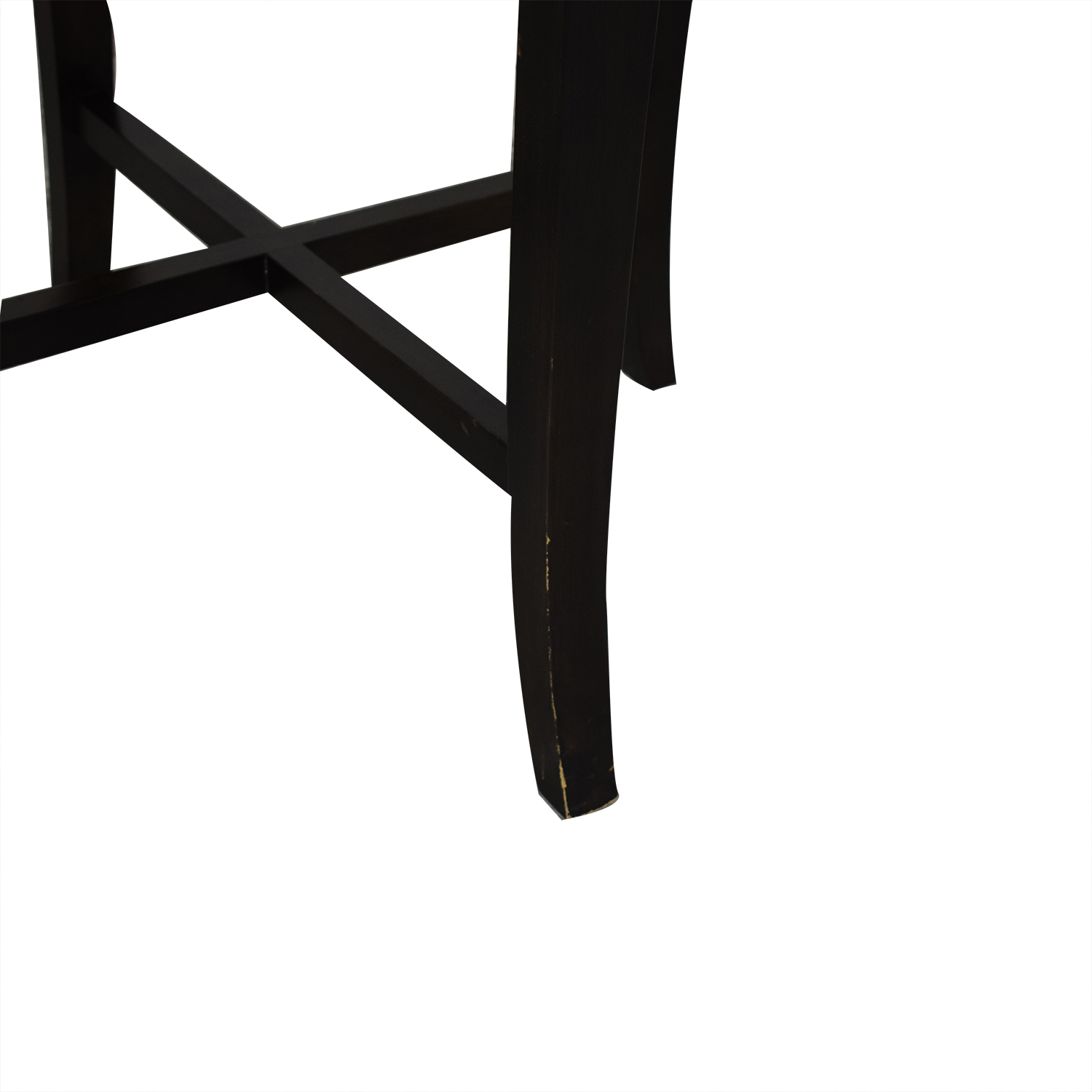 shop Crate & Barrel Halo Ebony Round Dining Table with Glass Top Crate & Barrel Dinner Tables
