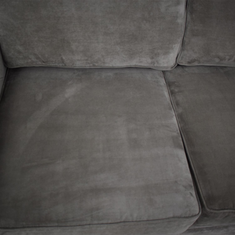 Raymour & Flanigan Raymour & Flanigan Artemis II Microfiber Sectional Sofa second hand