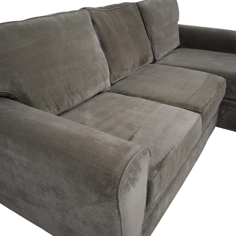 Enjoyable 73 Off Raymour Flanigan Raymour Flanigan Artemis Ii Microfiber Sectional Sofa Sofas Machost Co Dining Chair Design Ideas Machostcouk