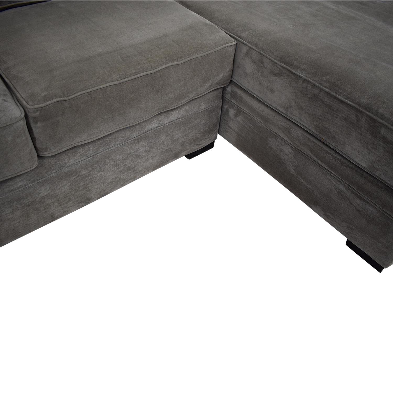 Cool 73 Off Raymour Flanigan Raymour Flanigan Artemis Ii Microfiber Sectional Sofa Sofas Machost Co Dining Chair Design Ideas Machostcouk