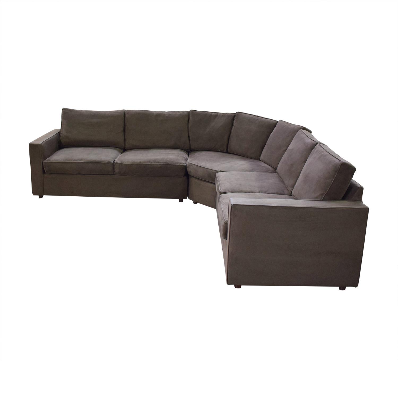 buy Room & Board York Three-Piece Sectional Sofa Room & Board Sofas