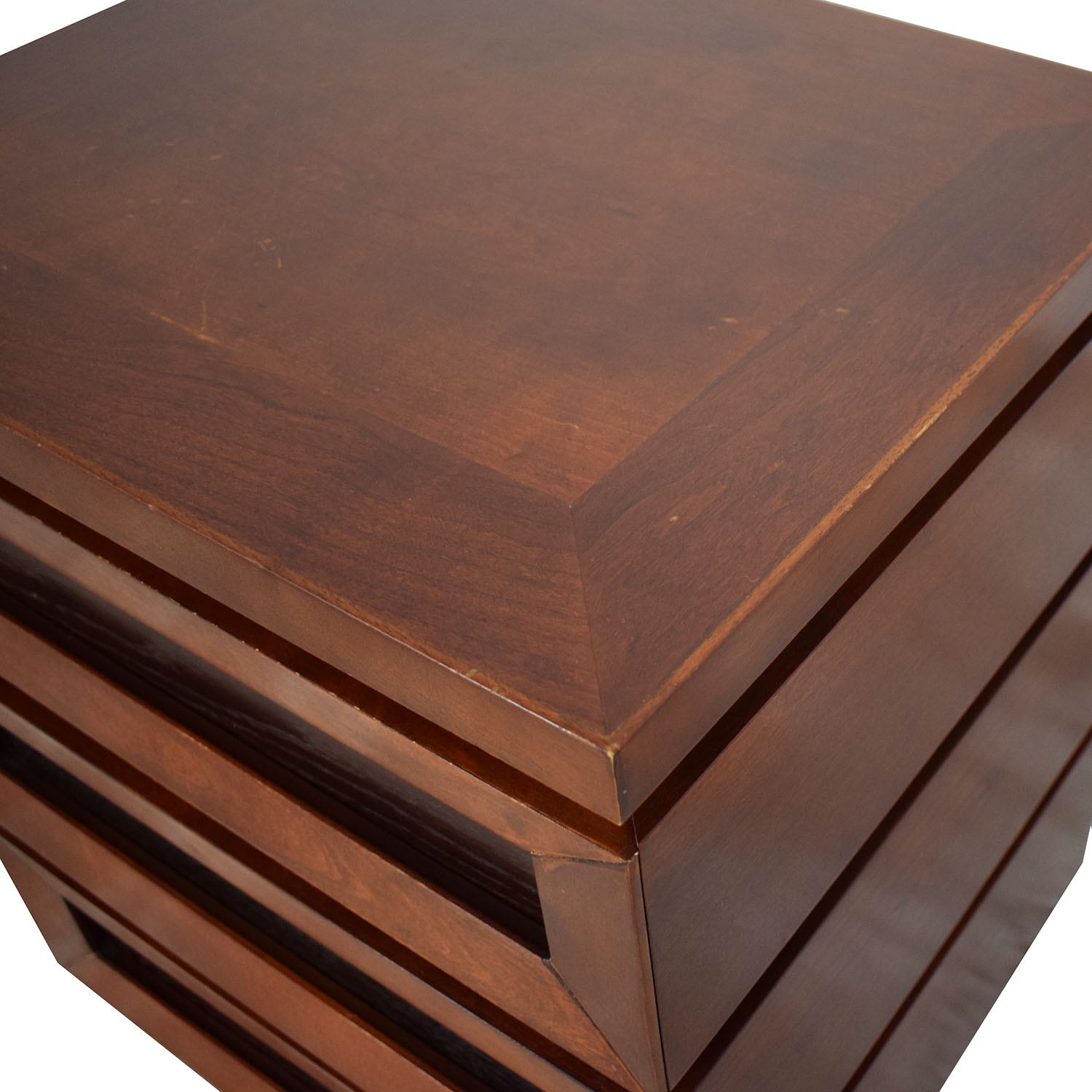 shop Crate & Barrel Side Table with Drawers Crate & Barrel End Tables