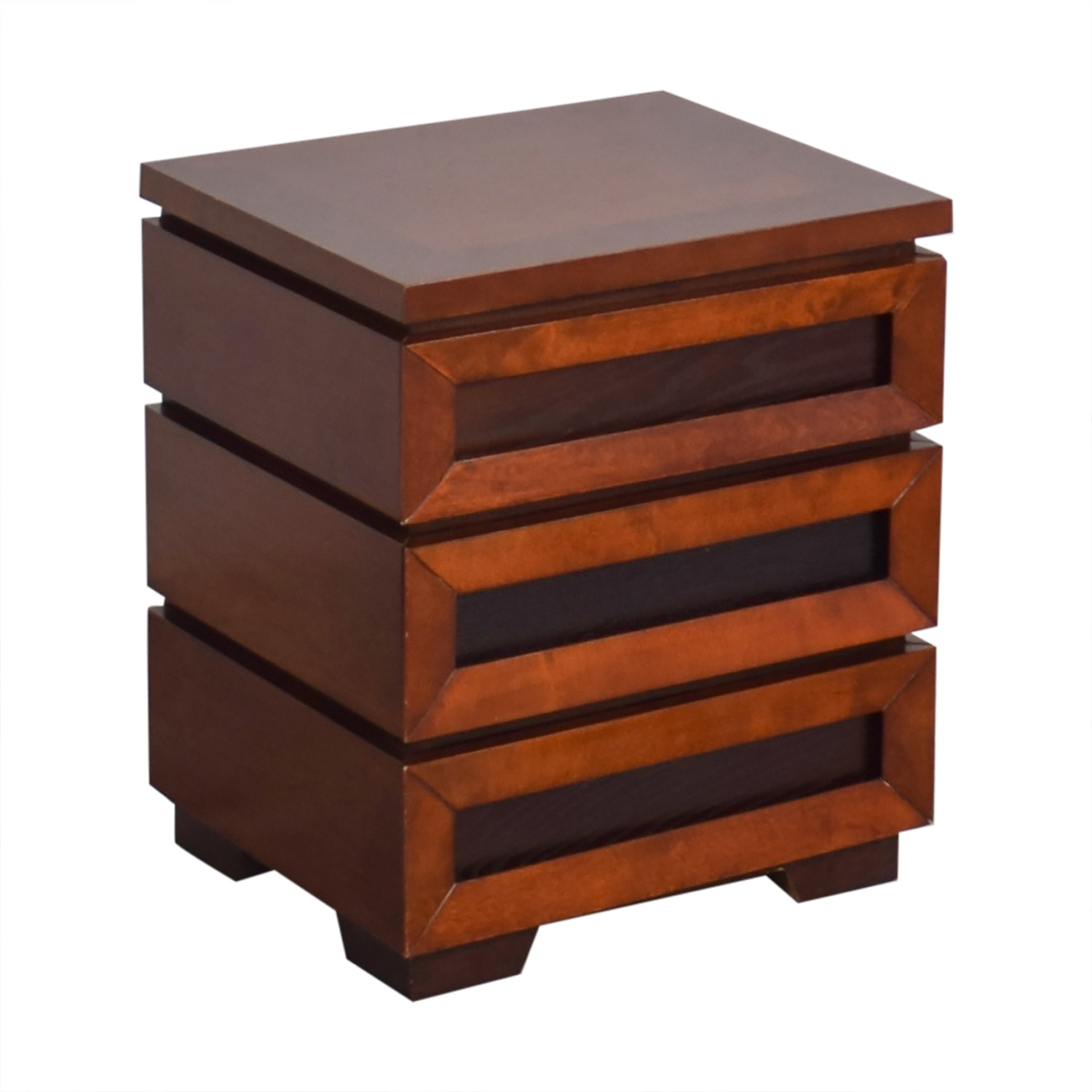 54% OFF   Crate U0026 Barrel Crate U0026 Barrel Side Table With Drawers / Tables