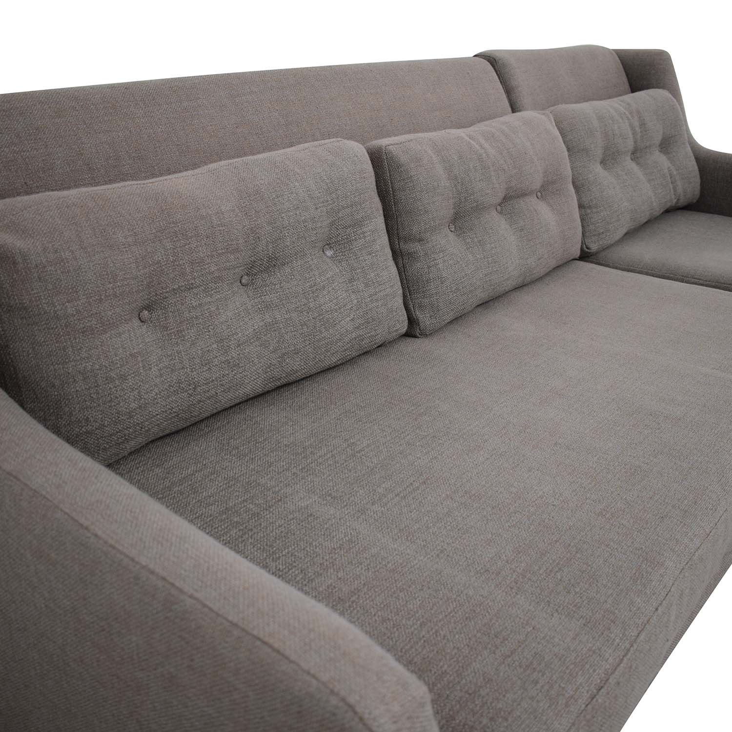 West Elm West Elm Crosby Mid-Century Sectional Sofa with Chaise second hand