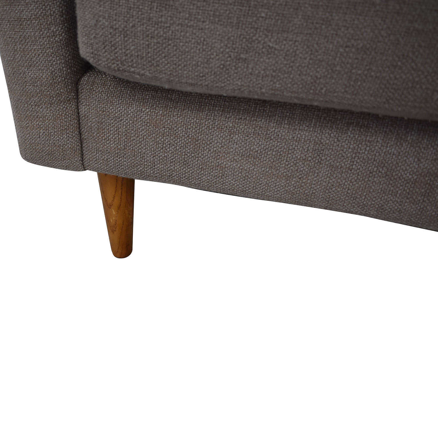 71% OFF - West Elm West Elm Crosby Mid Century Sectional Sofa with Chaise /  Sofas