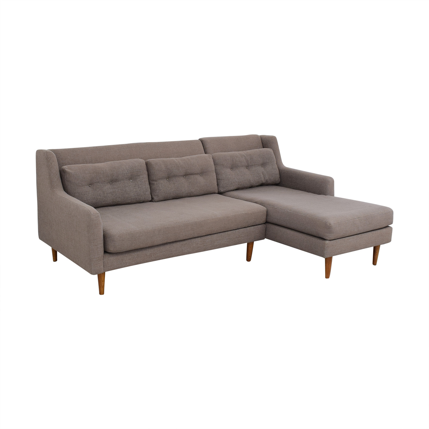 West Elm West Elm Crosby Mid-Century Sectional Sofa with Chaise price