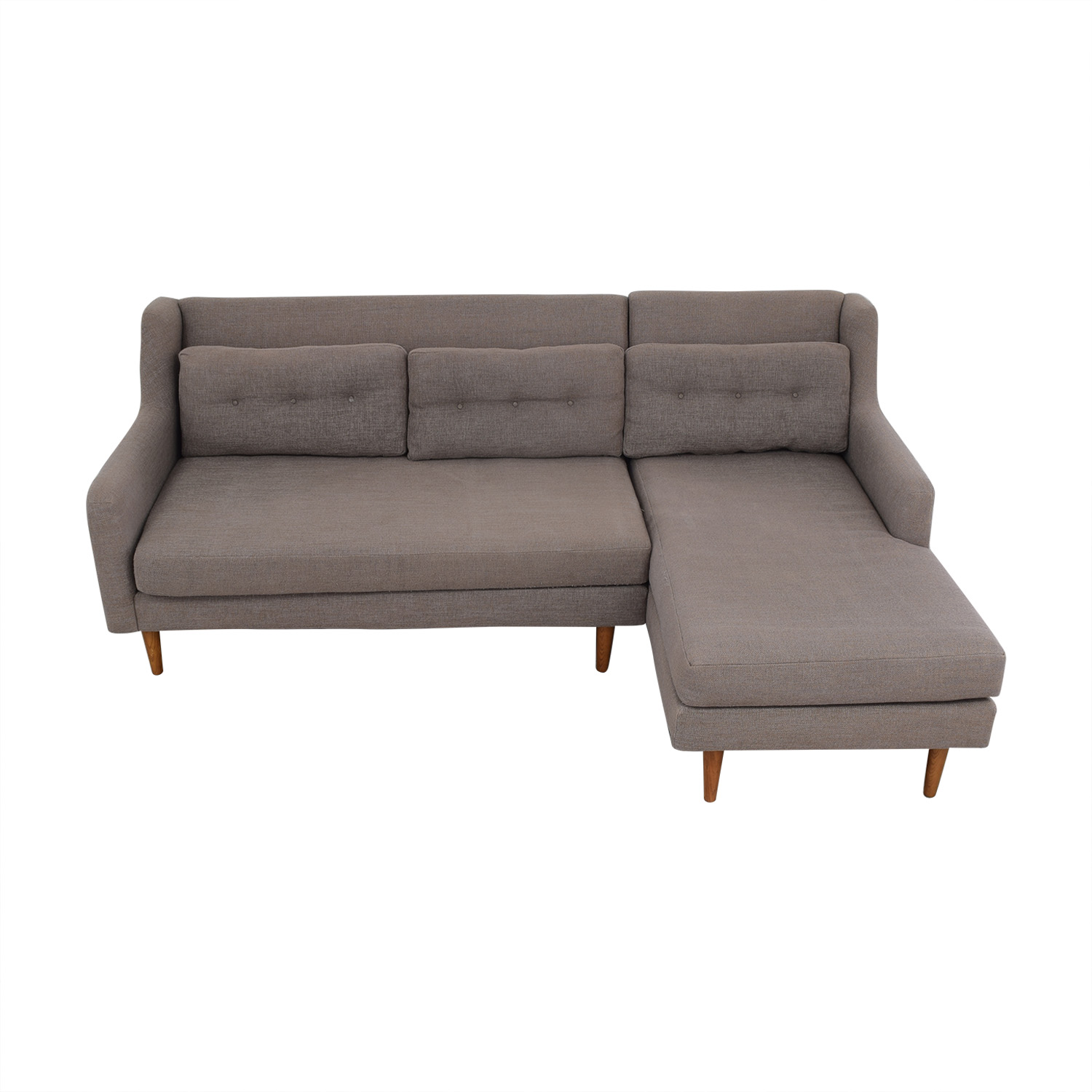 shop West Elm Crosby Mid-Century Sectional Sofa with Chaise West Elm Sofas