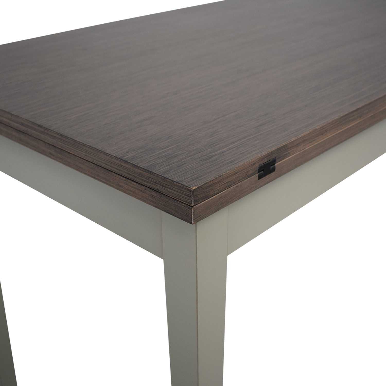 Crate & Barrel Crate & Barrel Pratico Grigio Extension Dining Table dimensions
