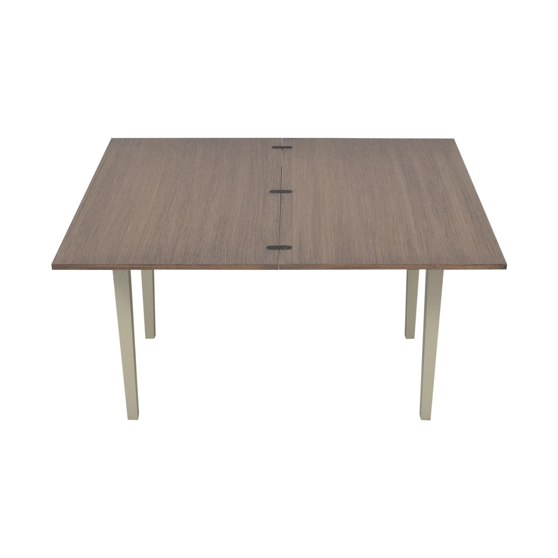 shop Crate & Barrel Pratico Grigio Extension Dining Table Crate & Barrel Tables