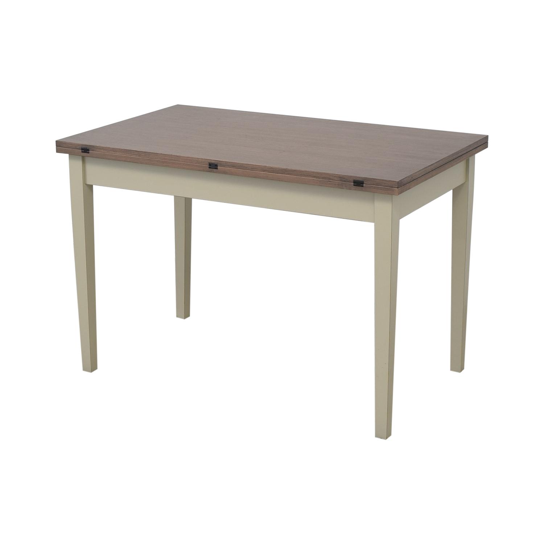 Crate & Barrel Crate & Barrel Pratico Grigio Extension Dining Table