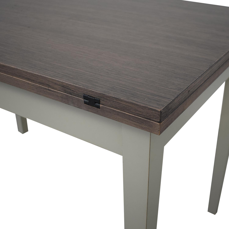 Crate & Barrel Crate & Barrel Pratico Grigio Extension Dining Table on sale