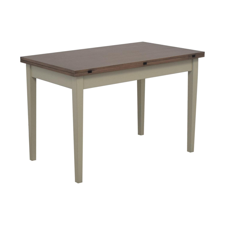 Crate & Barrel Crate & Barrel Pratico Grigio Extension Dining Table nj