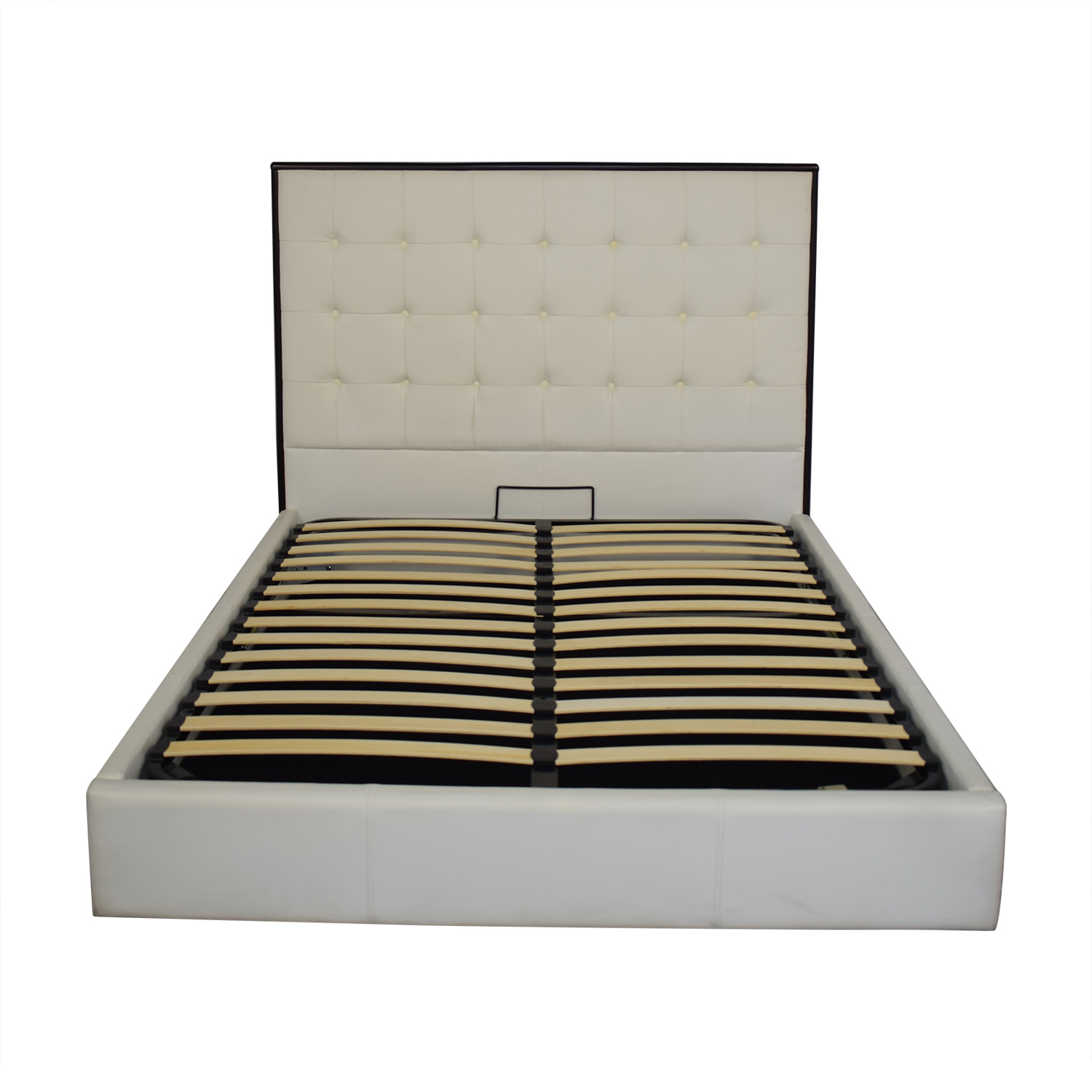 Tufted Queen Bed with Lift Storage used