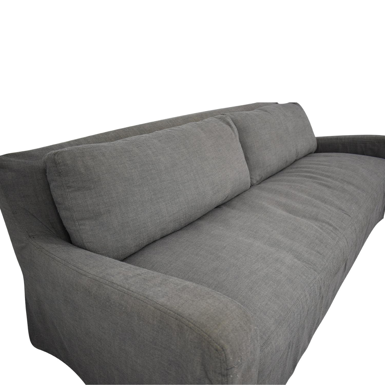 Restoration Hardware Belgian Slope Arm Slipcovered Sofa / Sofas