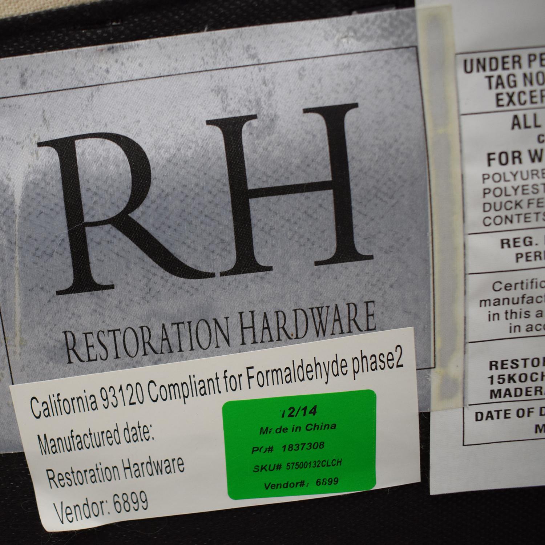 shop Restoration Hardware Belgian Slope Arm Slipcovered Sofa Restoration Hardware