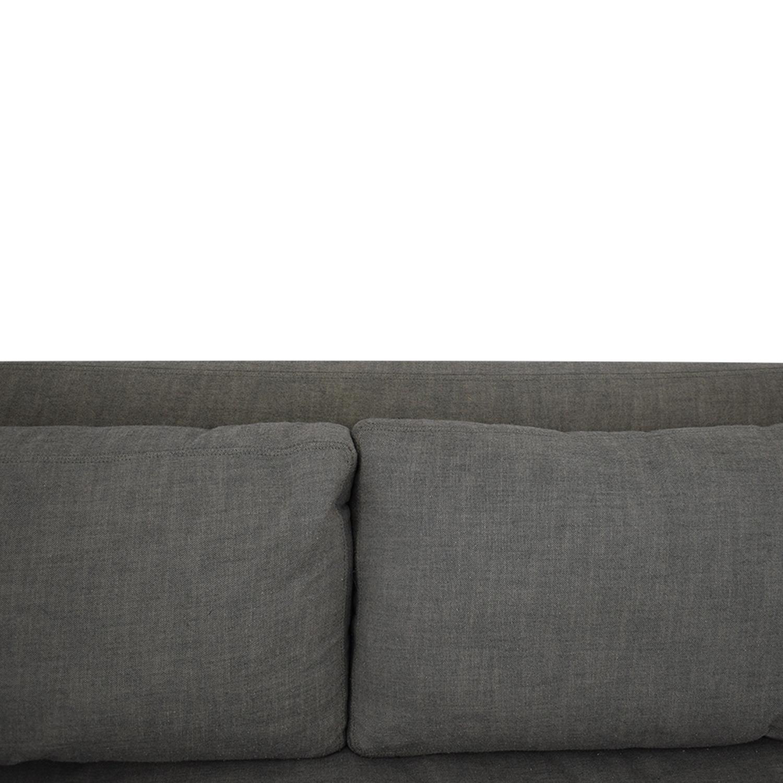 Restoration Hardware Belgian Slope Arm Slipcovered Sofa sale