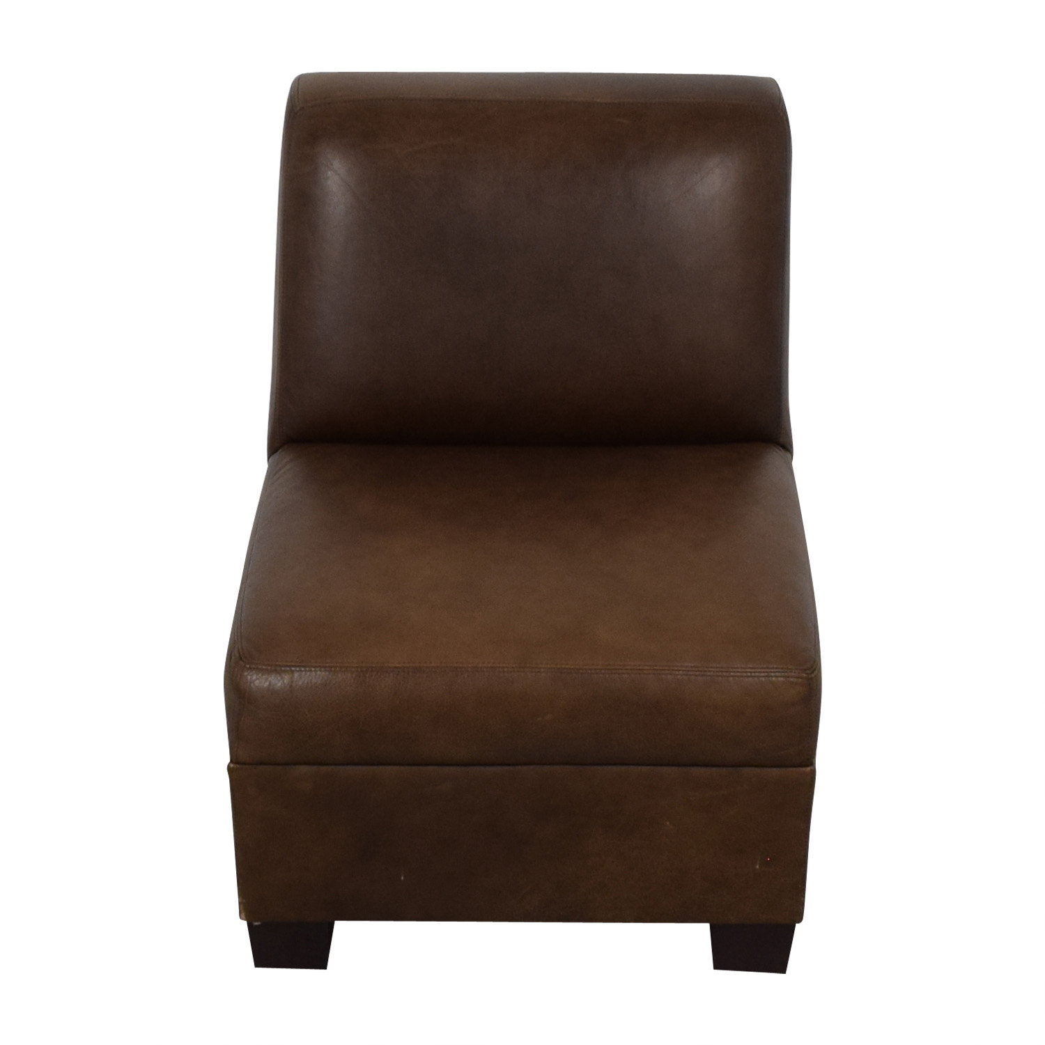 Pottery Barn Leather Lounge Chair / Accent Chairs