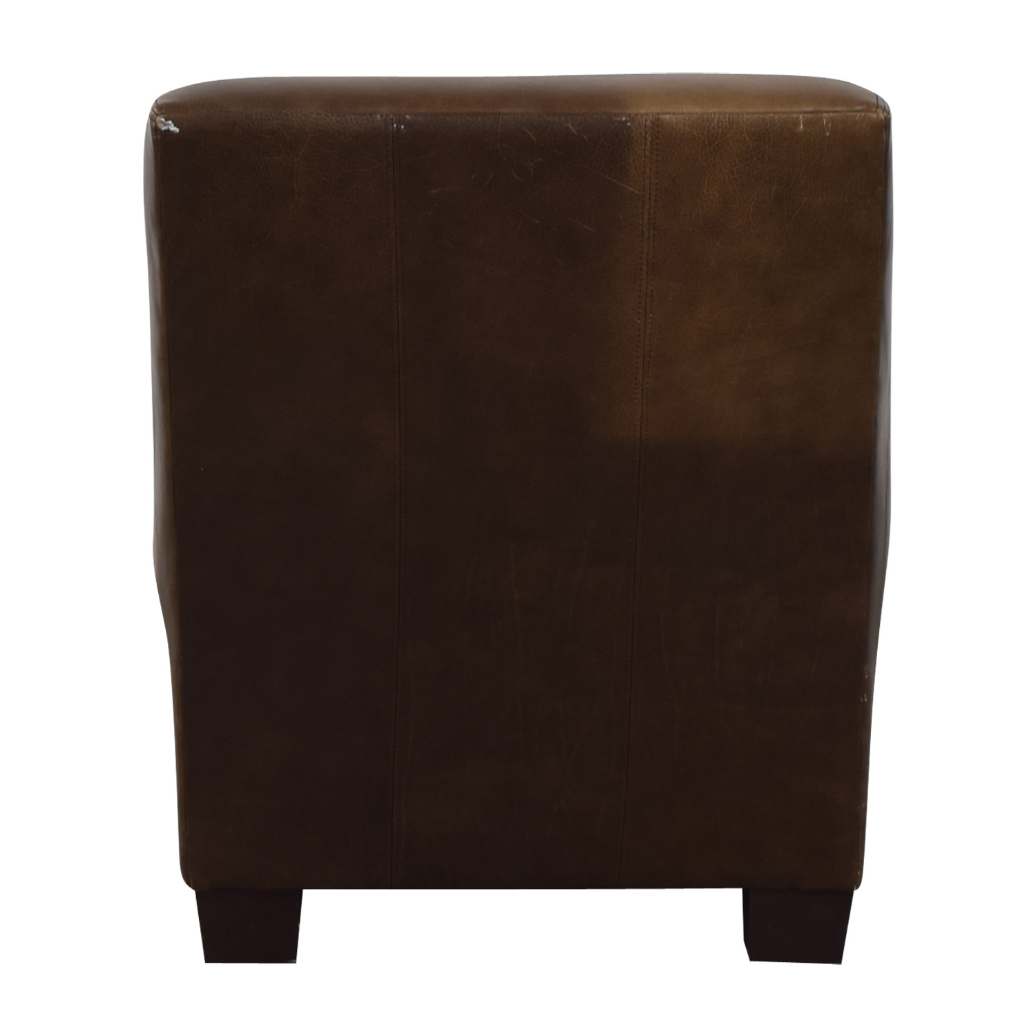 Pottery Barn Pottery Barn Leather Lounge Chair brown