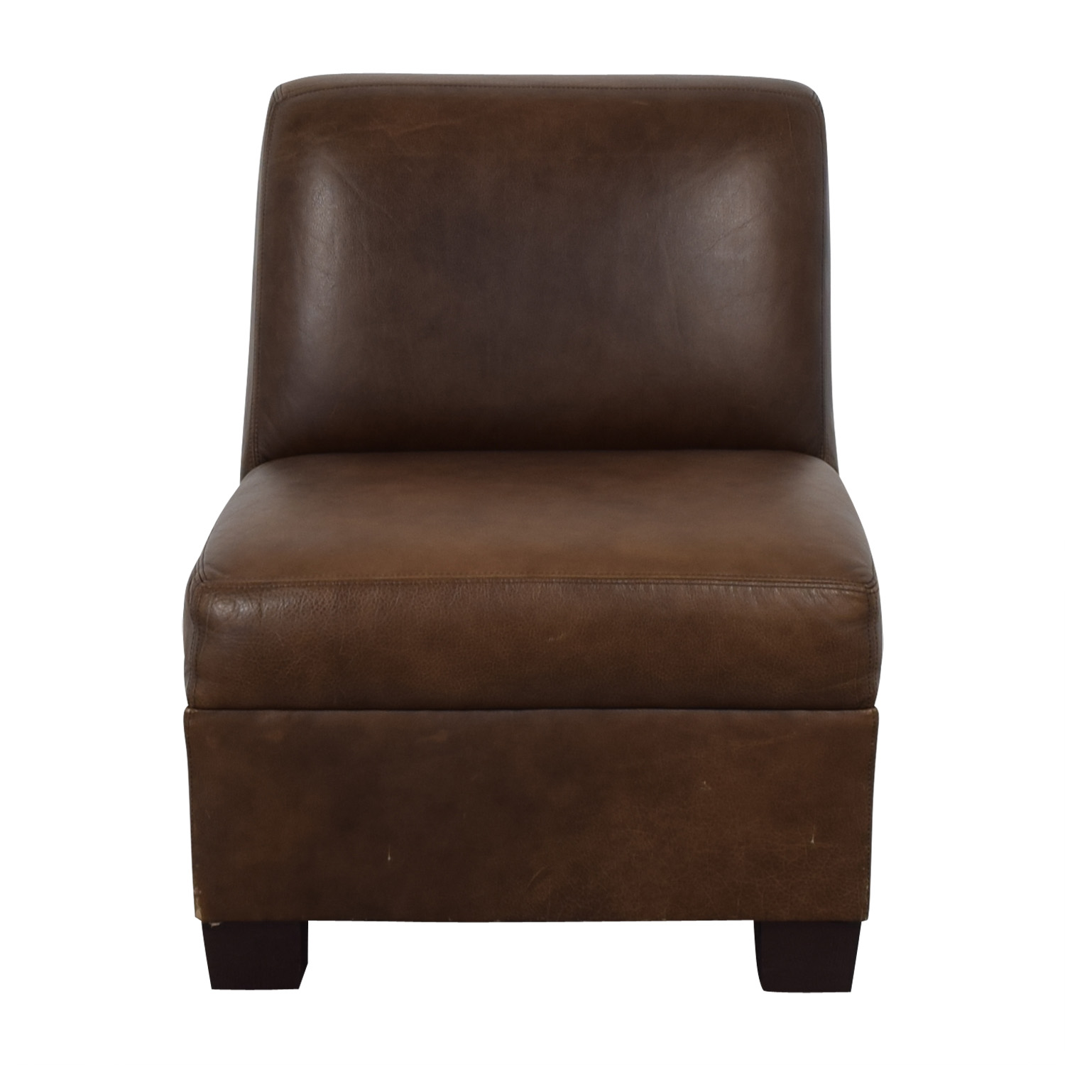 Pottery Barn Leather Lounge Chair Pottery Barn