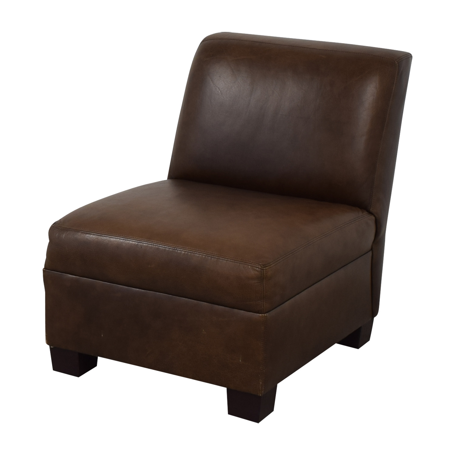 Pottery Barn Pottery Barn Leather Lounge Chair for sale