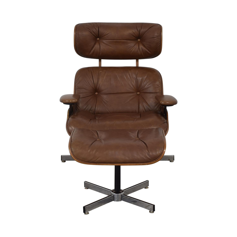 Charlton Replica Eames Chair & Ottoman / Chairs