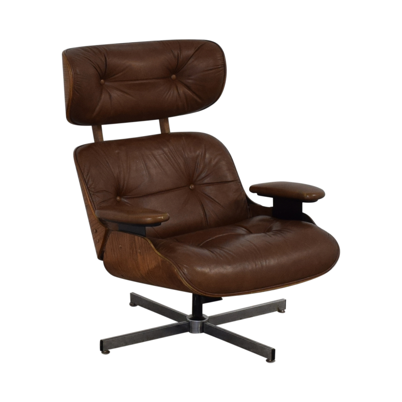 buy Charlton Replica Eames Chair & Ottoman  Accent Chairs