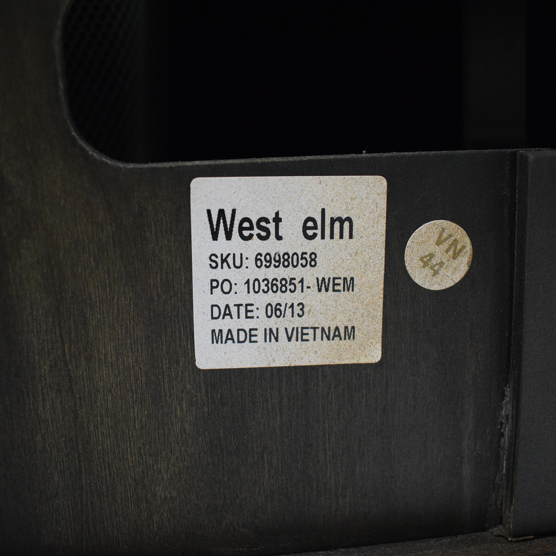 West Elm West Elm Panelled Armoire brown
