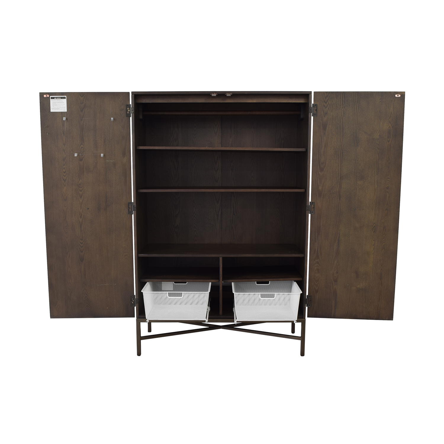 West Elm West Elm Panelled Armoire second hand