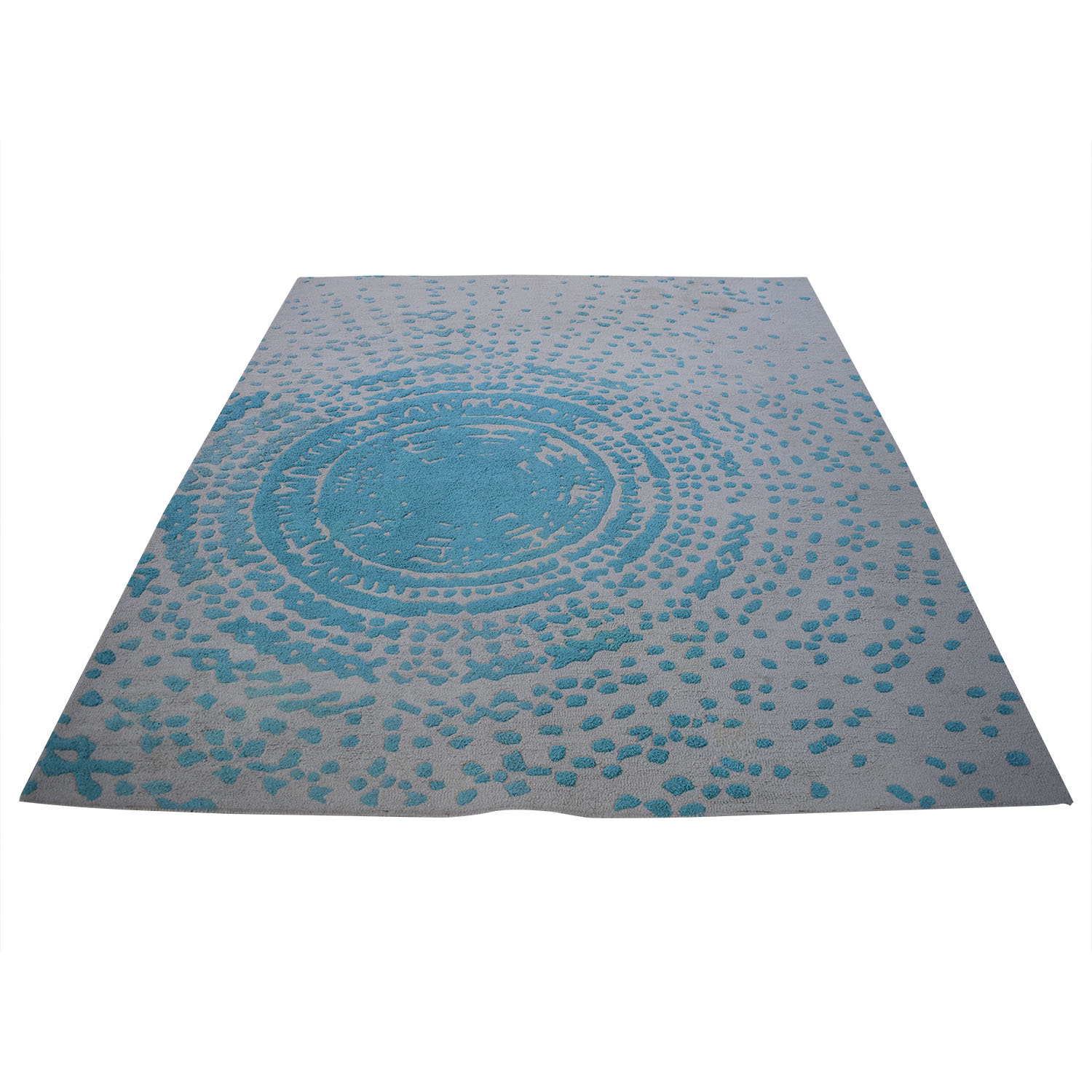 Global Views Global Views Cosmos Rug in Color Aqua nyc